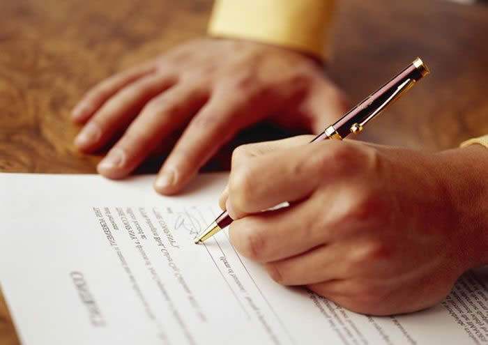 Заключения договора с банком